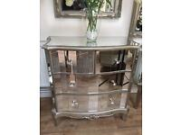 Argente Mirrored Chest of drawers (new)