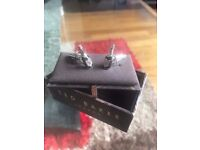 Set of Teddy Baker Champagne Bottle Cuff Links, Like new boxed great for weddings etc