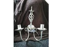 wall mounted candelabra lights new never been used