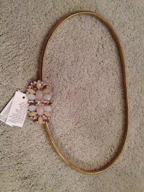 New Look Gold Stretchy Waist Belt Size S/M BNWT