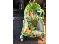 Fisher Price Rainforest Baby Newborn to Toddler Portable Rocker Bouncer