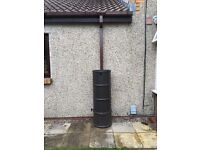 BROWN SQUARE DOWNPIPE 65MM X 2.5M FOR SQUARE GUTTERING
