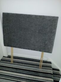 Single Charcoal chenille headboard - brand new - never used - bought in error