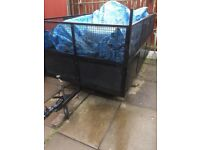 Trailer 7x5 caged braked