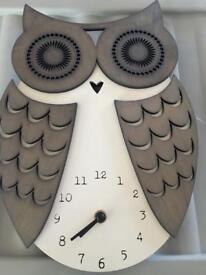 Beautiful Owl Wall Clock
