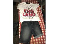 England top and shorts