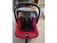 Jane strata car seat from birth rear facing