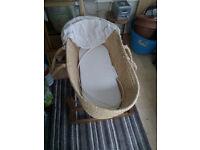 2x moses baskets 3x stands 1x mattress