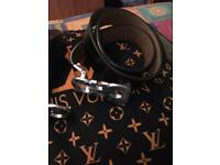 Ferragamo real leather belt size 32 waist - brand new