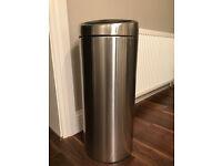 Used but in good condition, 40 litre matt steel bin