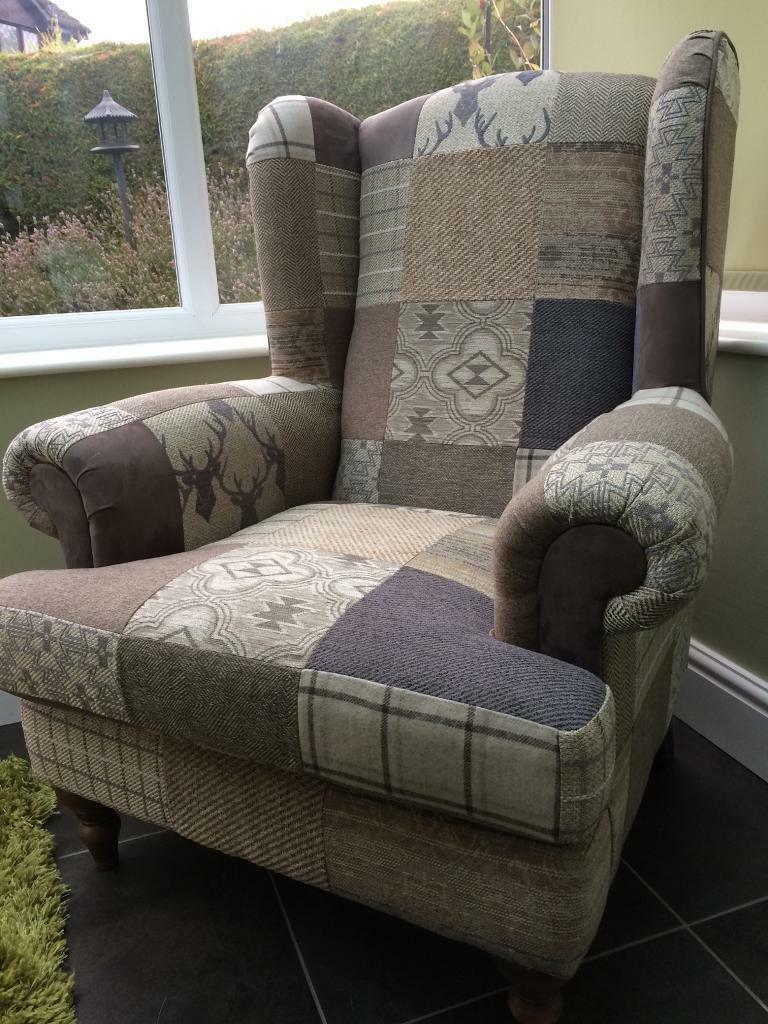 Dfs Country Patch Arm Chair Sofa In Waterlooville