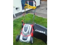 Cobra MX64SPE electric mowerrecently serviced. Downsizing so mower is too large. Will except £125ono