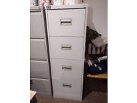 4 Drawer Grey Filing Cabinet