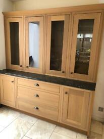 MFI Kelmscott Howdens oak kitchen cupboards