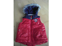 F&F Red&Blue Sleeveless Jacket