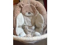 Mothercare 'Teddy toy box baby bouncer' Musical & Vibrating