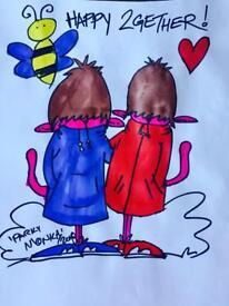 'BEE HAPPY 2GETHER' HOODIES