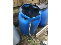 3 water butts