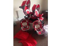 CHICCO double stroller pushchair £125