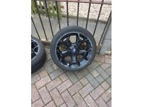 Ford alloy wheels x4 with tyres