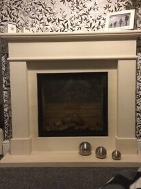 Lime stone fire Surround