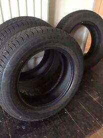 3 x Part Worn Tyres