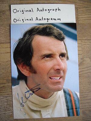 John Watson Orig. Autogramm Autograph Formel 1 Grand Prix Lotus Surtees Penske