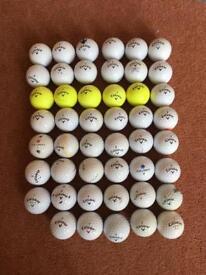 47 Callaway Golf balls (Mix of CXR, HEX, warbird)