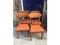 4 x Dining mahogany chairs - Good Quality and Condition Free Local Delivery