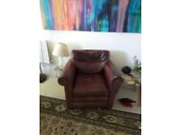 Super comfy leather armchair.