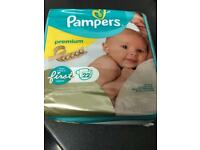 Pampers premium nappies size 1