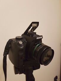 Pentax K-r SLR Digital Camera with lenses and tripod