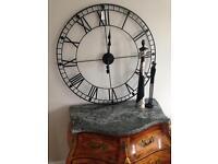 New large metal wall clock