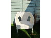 White garden / conservatory chair.Used good condition.Pick up from Sunbury.