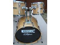cannon Bird's Eye Maple drum shell pack- 1990s - Top of the range