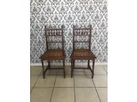 2 chairs Oak French style