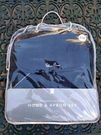 Silver Cross Hood and Apron set for Wayfarer/Pioneer pram - brand new, unused, midnight blue colour