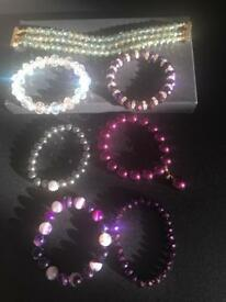 7 assorted ladies bracelets