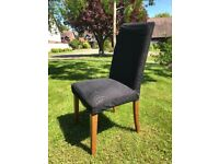 4 x Bo Concept black upholstered dining chairs