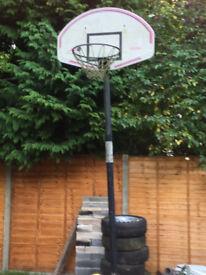 Basketball hoop adjustable stand