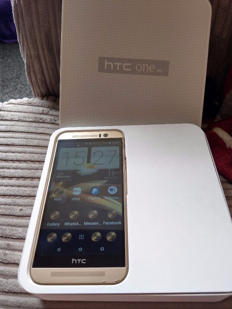 Htc one m9 32g in gold on eein Ilkeston, DerbyshireGumtree - Htc one m9 32g in gold great condition apart from 3 dints as shown on the pictures comes with charger original box, no head phones Its been a great phone only selling due to upgrade xxx collection only ilkeston Derbyshire de7 8st x thanks