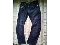 Mens Designer Jeans W34 L32