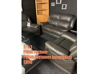 Full recliner 2/1/1 NEW leather suite