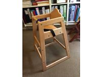 Childs high chair like that used in cafes. Nice and sturdy