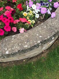 Rounded Saddleback Rockery & Concrete Coping