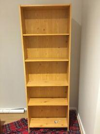 Pine shelve unit. 5 shelves and 178cm tall