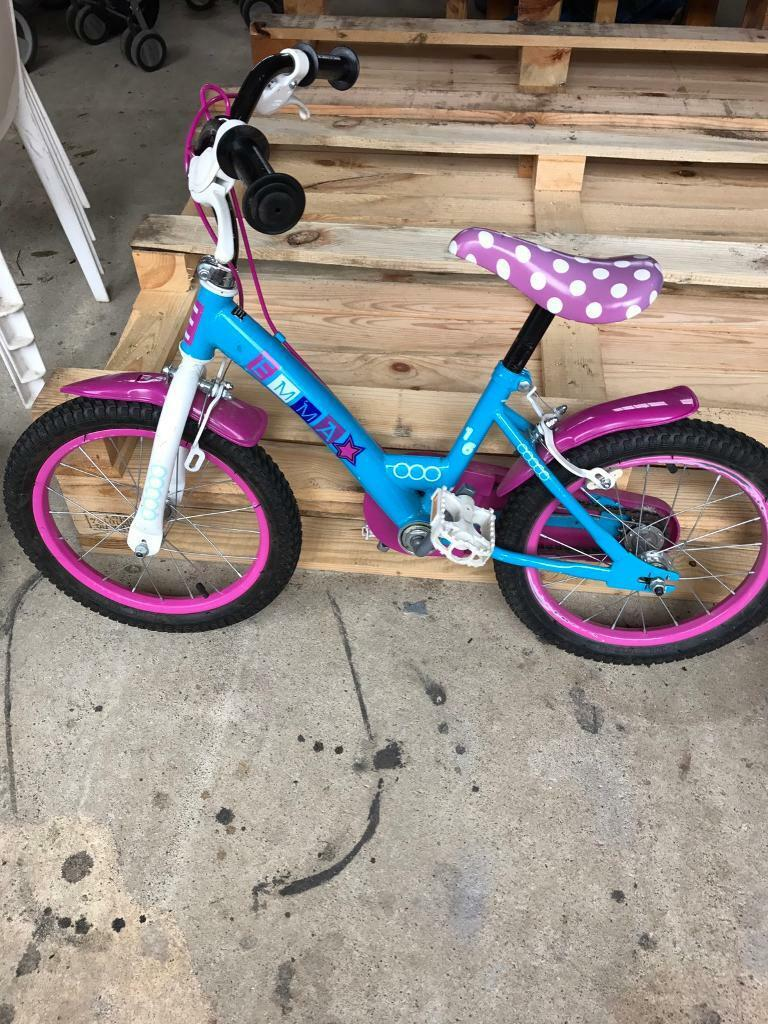 Girls Bikein Norwich, NorfolkGumtree - 16 Inch Daisy bike is for young girls in excellent condition, removable stabilisers, very little use. Steel Frame, Fixed Gear, Front and Rear Calliper Brakes, Steel Rim With Air Pumped Tyres, Front and Rear Plastic Mudguards, Printed SaddleFully...