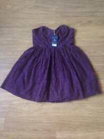 BNWT Jack Wills Purple Skater Dress Size 14