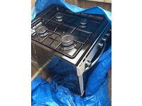 Bush black gas oven/cooker
