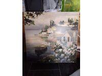 Large square river scene print
